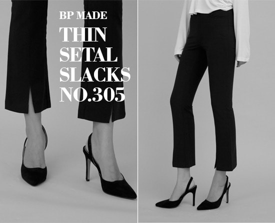 #BP_MADE Thin Steal Slacks NO.305(Semi Boots Cut) - 리바이벌